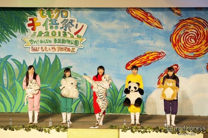 ももいろクローバーZ/「ももクロ子供祭り2013 ~守れ!みんなの東武動物公園 戦え!ももいろアニマルZ~」にて/photo by hajime kamiiisaka
