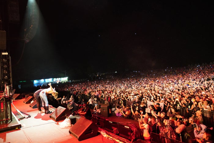 DJ Skrillex、YOSHIKI/「FUJI ROCK FESTIVAL '18」の様子(提供写真)